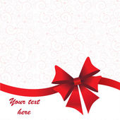 Holidays background with ribbon and bow — Stock Photo