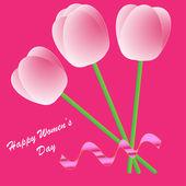 Glad kvinnors dag bakgrund — Stockfoto