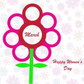 Happy Women's Day background — Stock Photo