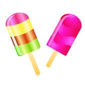 Ice cream lolly background — Foto de Stock