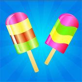 Zmrzlina lízátko pozadí — Stock fotografie