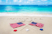 Memorial day background — Stock Photo