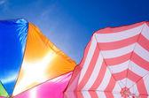 Beach umbrella's background — Stock Photo