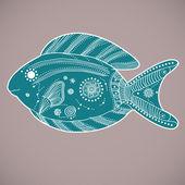 绿松石鱼 — 图库矢量图片