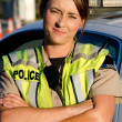 Stock Photo: Female police officer