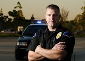 Patrol policjant — Zdjęcie stockowe