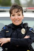 Smiling officer — Stock Photo