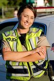 Female police officer — Stock Photo
