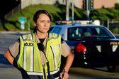 Weibliche polizistin — Stockfoto