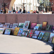 Nobody buys a painting in the square — Foto de Stock