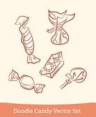 Conjunto de doces doodle — Vetorial Stock