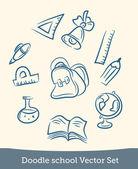 Doodle school set — Stock Vector