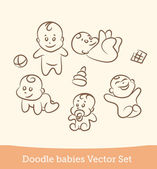Doodle baby set — Stock Vector