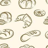 Doodle bread set — Stock Vector