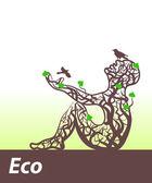 Eco abstract body — Stock Vector