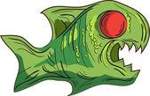Pez verde — Vector de stock