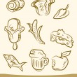 Royalty-Free Stock Vektorgrafik: Doodle food set