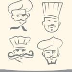 Doodle chefs set — Stock Vector #26051857