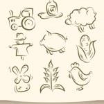 granja juego doodle — Vector de stock  #26051923