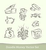 Finance doodle set — Stock Vector