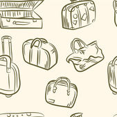 Doodle fällen set .seamless muster — Stockvektor