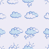 Seamless pattern.weather doodle set — Stock Vector