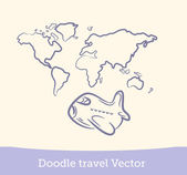 Doodle travel set — Stock Vector