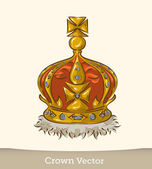 Royal Crown — Vector de stock