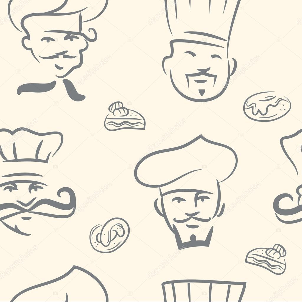 厨师手绘图片大全