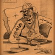 Vintage paper with a sketch of African-American Ganster — Stock Photo