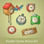Doodle clock set — Stock Vector #27875163