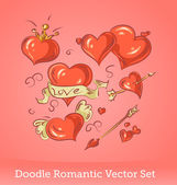Valentine Doodles set — Stock Vector