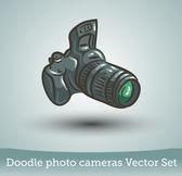 Zdjęcie aparatu zestaw — Wektor stockowy