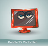 Doodle TV set — Stock Vector