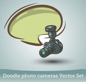 Photo camera with speech bubble — Stock Vector