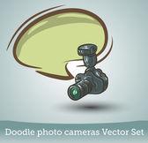 Fotokamera med pratbubblan — Stock vektor