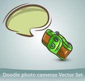 Photo camera with speech bubble — Stock Vector