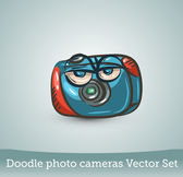 Funny photo camera — Stock Vector