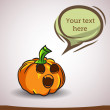 Cartoon pumpkin — Image vectorielle