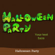 Vector illustration Halloween background for party invitation — Stok Vektör