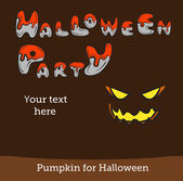 Halloween vector card or background. Vector art. — Vector de stock