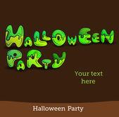 Vector illustration Halloween background for party invitation — Vector de stock