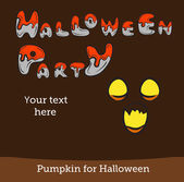 Halloween vector card or background. Vector art. — Stock Vector