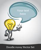 Light bulb idea vector illustration — Stock Vector