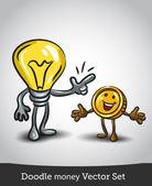 Ideas and money. — Stock Vector