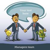 Business man shake hands — Stock Vector