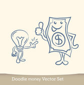 Idea is money concept — Stock Vector