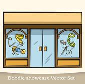 Doodle showcase vector set — Stock Vector