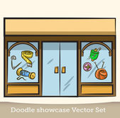 Doodle showcase vector set — Stock Vector