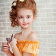 Portrait of a beautiful little girl — Stock Photo #24975075